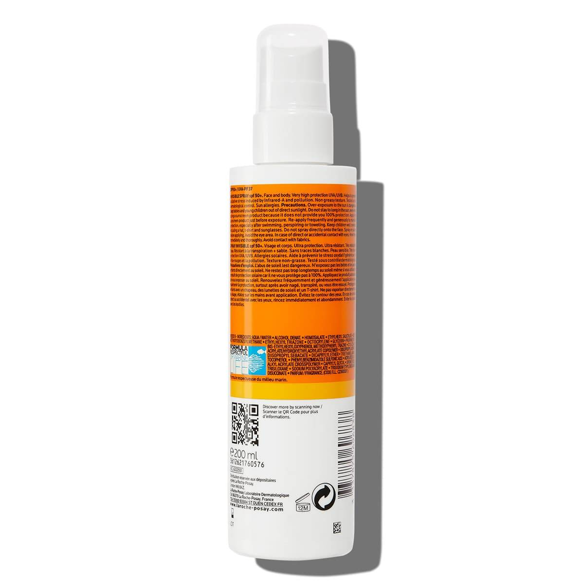 Ingredientes anthelios Spray invisible 50