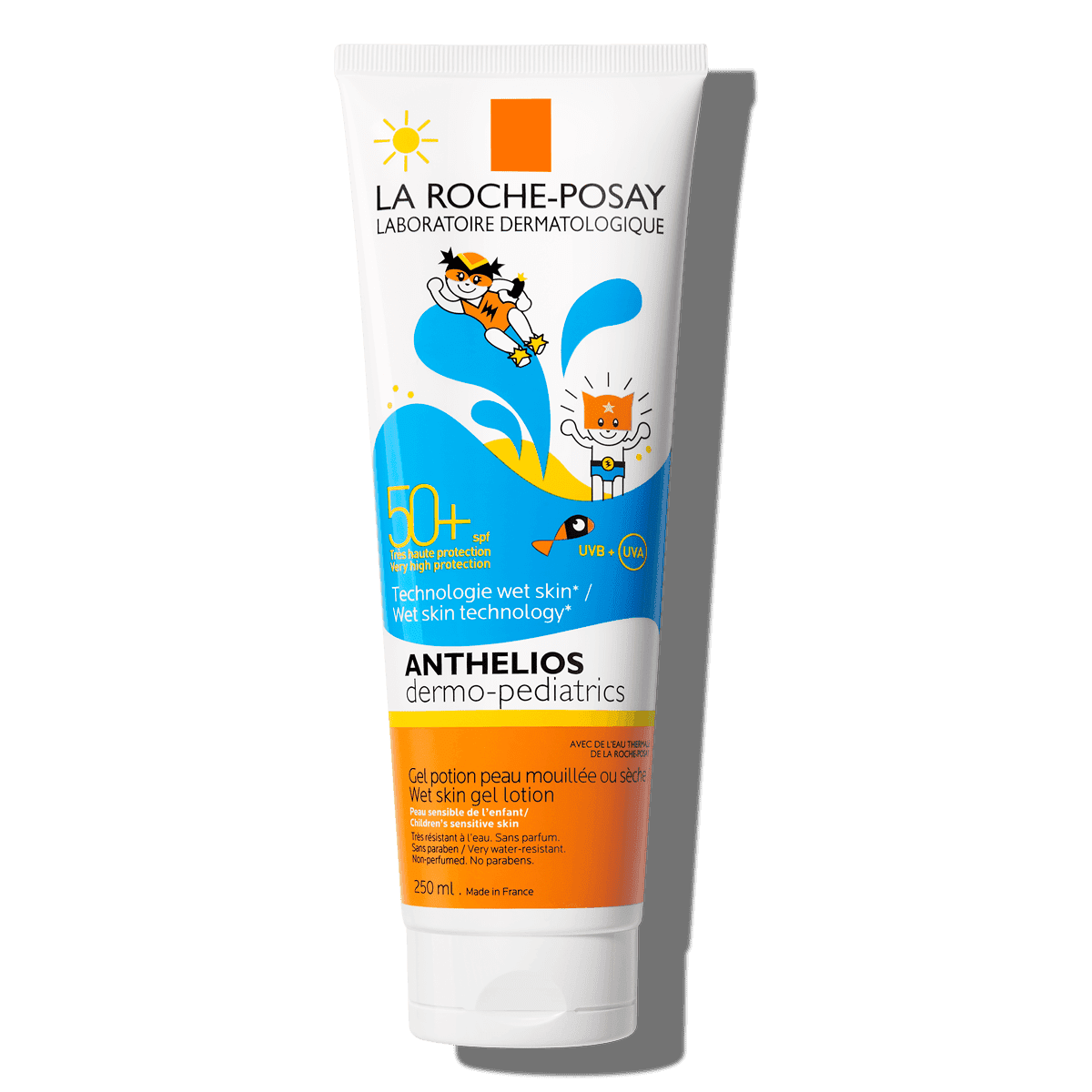 La Roche Posay ProductPage Sun Anthelios Wet Skin Gel Dermo Pediatrics