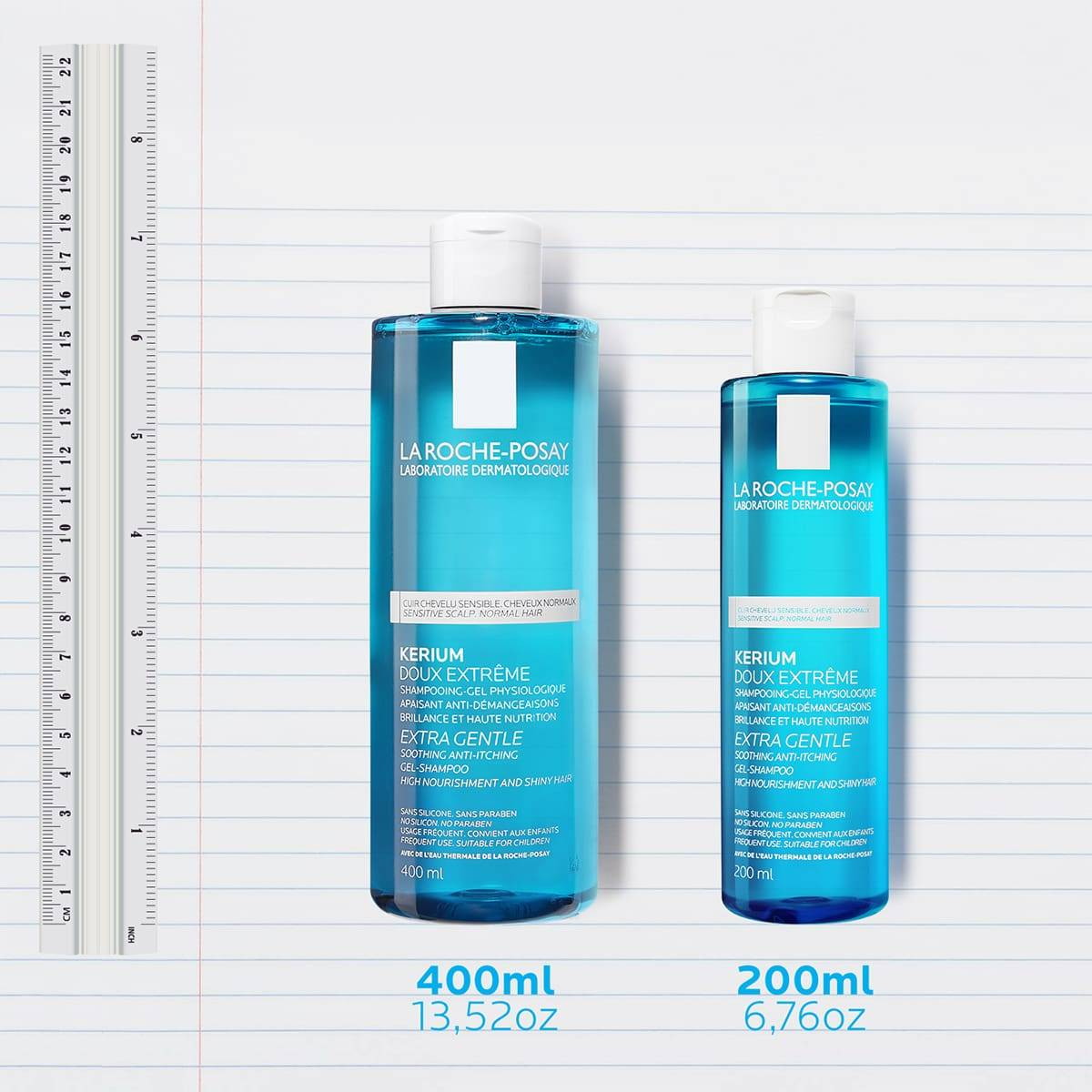 La Roche Posay ProductPage Kerium Extra Gentle Gel Shampoo Family 3337