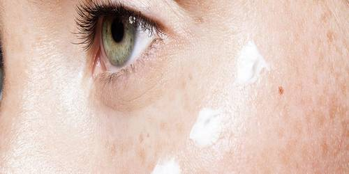 Piel dañada crema ojo